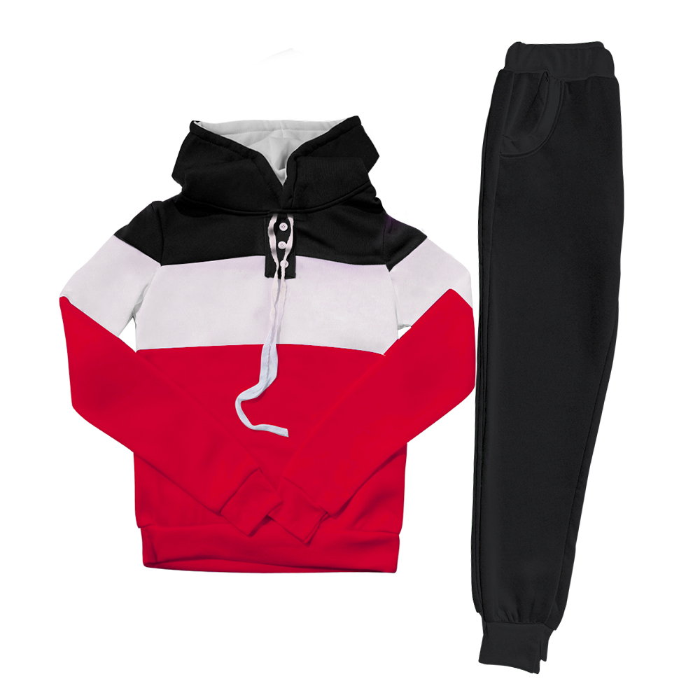 2Pcs Women Winter Tracksuit Hoodies Sweatshirt Pants Sets Sport Wear Casual Suit
