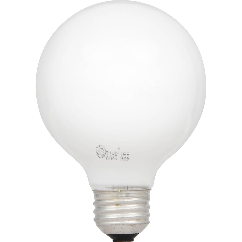 Sylvania 40-Watt Soft White Globe Light Bulb, 3pk