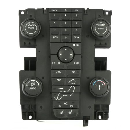 2004-07 Volvo 30 40 50 Series Audio Control Module with Climate Controls 8697670 - Refurbished