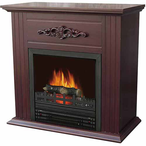 "Electric Fireplace with 28"" Mantle, Chestnut"