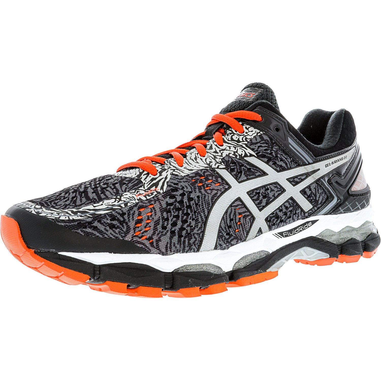 ASICS Asics Men's Gel Kayano 22 Lite Show Carbon Silver Cherry Tomato Ankle High Running Shoe 8.5M