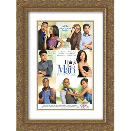 206 Matt - Think Like a Man 18x24 Double Matted Gold Ornate Framed Movie Poster Art Print