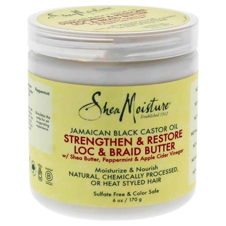 Shea Moisture Jamaican Black Castor Oil Strengthen & Grow Loc & Braid Butter - 6 oz