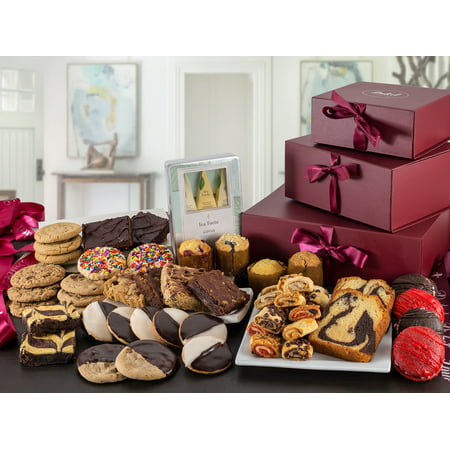 Dulcet's Ultimate Gift Tower Baskets Includes- Cookies, Whoopee Pies,...