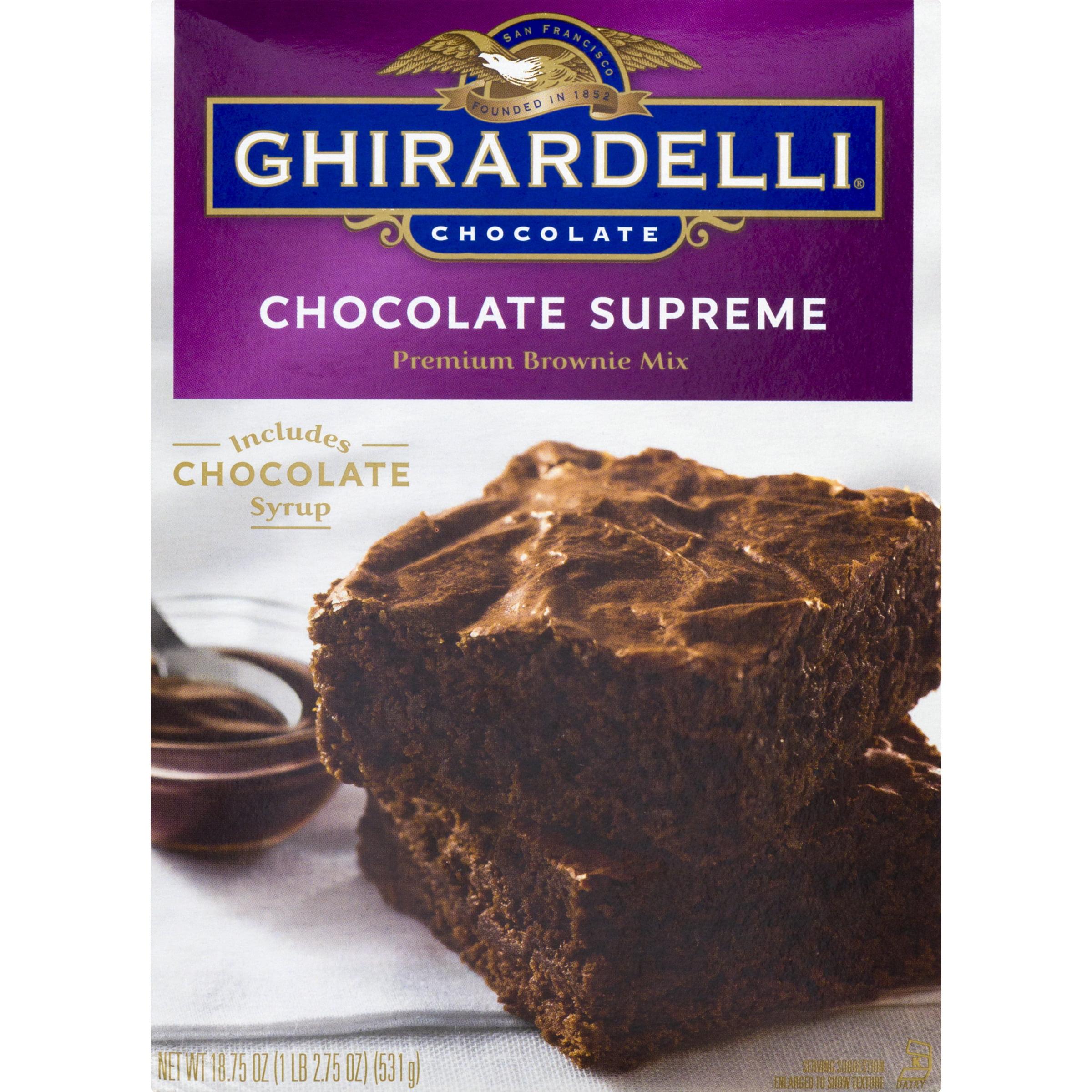 Ghirardelli Chocolate Supreme Premium Brownie Mix, 18.75 oz