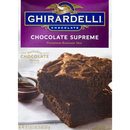 Ghirardelli Chocolate Supreme Premium Brownie Mix, 18.75 oz