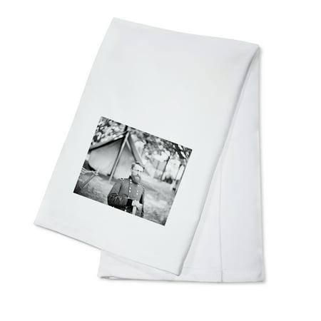 Fair Oaks, VA - Gen. Stoneman in Camp Civil War Photograph (100% Cotton Kitchen Towel) - Halloween Fair Oaks