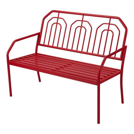 Mainstays Ardenne Outdoor High-Back Steel Bench in -