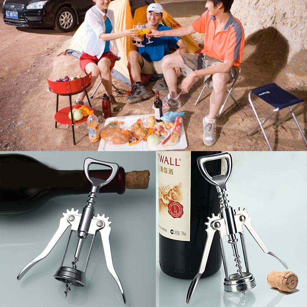 1Pc Stainless Steel Bottle Opener Waiter Metal Wine Corkscrew Bottle Handle Opener Corkscrews 16 x 5.5 x3.5cm by