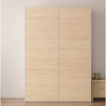 Brayden Studio Zastrow Wardrobe Armoire With Sliding Doors Walmart