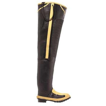 Lacrosse Size 12 Steel Toe Hip Boots, Men's, Black/Yellow, 24509099 (Lacrosse Steel Boot)