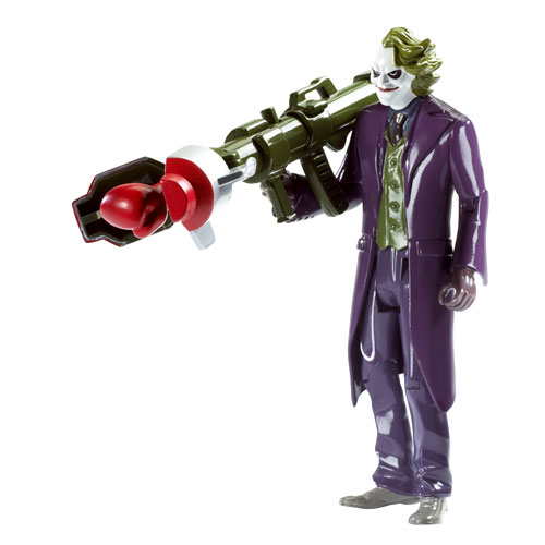 Mattel The Dark Knight Bazooka Joker poseable action figure by