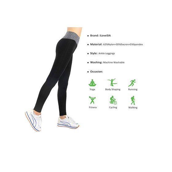 95971b0fd2d361 iLoveSIA - iLoveSIA Womens Running Leggings Yoga Pants L - Walmart.com