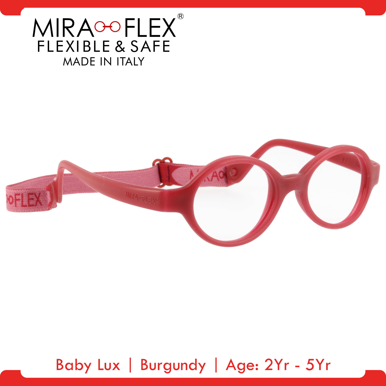 Miraflex: Baby Lux Unbreakable Kids Eyeglass Frames | 38/12 - Dark Blue | Age: 2Yr - 5Yr