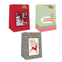 Expressive Design Group CSWJGBA-11TV Mega Heavyweight Wide Gift Bag, Assorted 4 Piece - Pack Of 12
