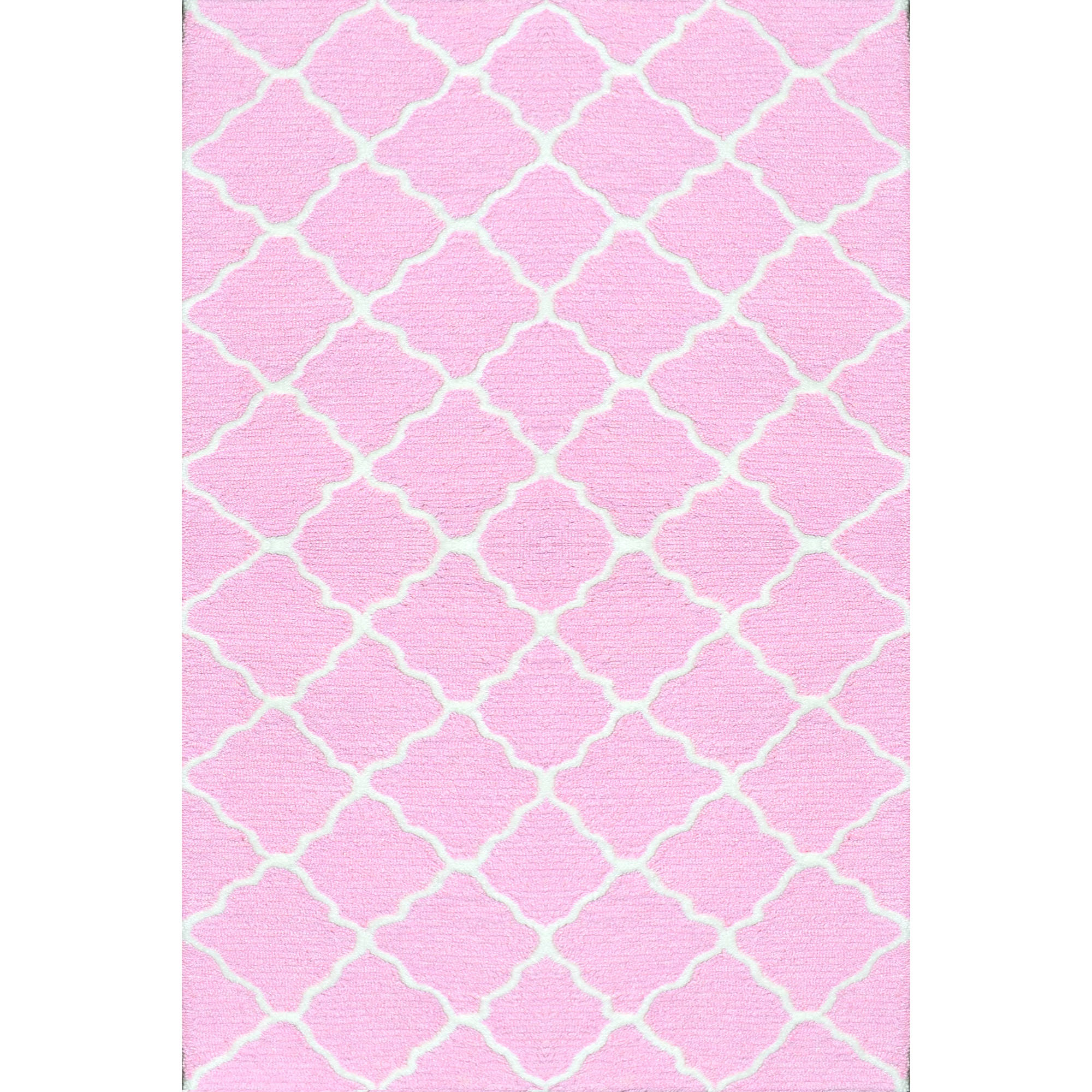 "The Rug Market Lattice Pink 4.7"" x 7.7"" Area Rug by The Rug Market"