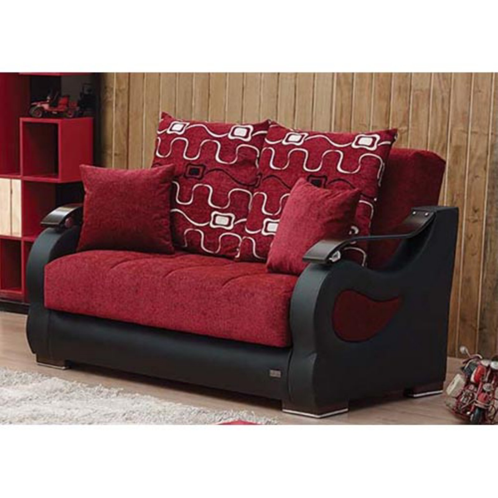 Empire Furniture USA Pittsburgh Convertible Storage Loveseat
