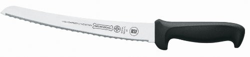 5621-10 10-Inch Curved Micro-Serrated Edge Bread Knife, Black, Horn MicroSerrated Size SHERPA Black Curved... by