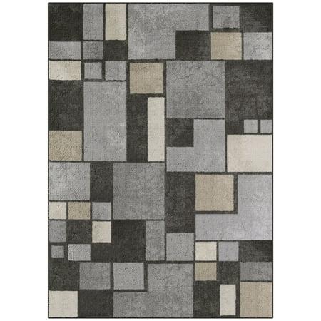 Gray Rug (Mainstays Gray Squares Nylon Loop Pile Print Area Rug or Runner)