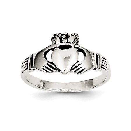 - 925 Sterling Silver Irish Claddagh Celtic Knot Band Ring Size 6.00 Gifts For Women For Her