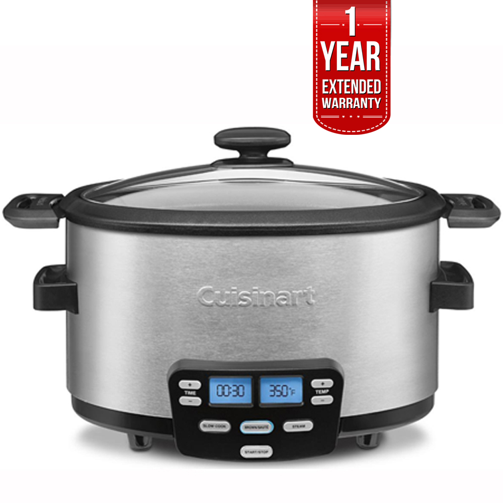 Cuisinart 3-In-1 Cook Central Multi-Cooker, Slow Cooker, Steamer (MSC-400) with 1 Year Extended Warranty