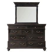 Kentshire Dresser with Mirror in Black Finish