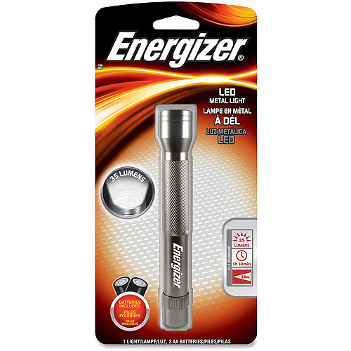 Energizer LED Metal Flashlight with Batteries