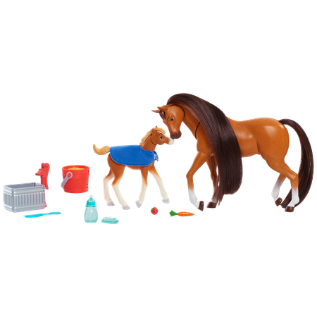 Spirit Riding Free Feed and Nuzzle Horse Set - 2 Pack (Free Horses)