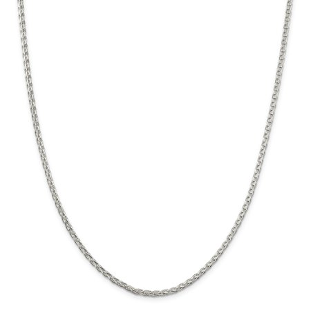 925 Sterling Silver 3mm Round Spiga Necklace Chain Pendant Charm Wheat Gifts For Women For Her