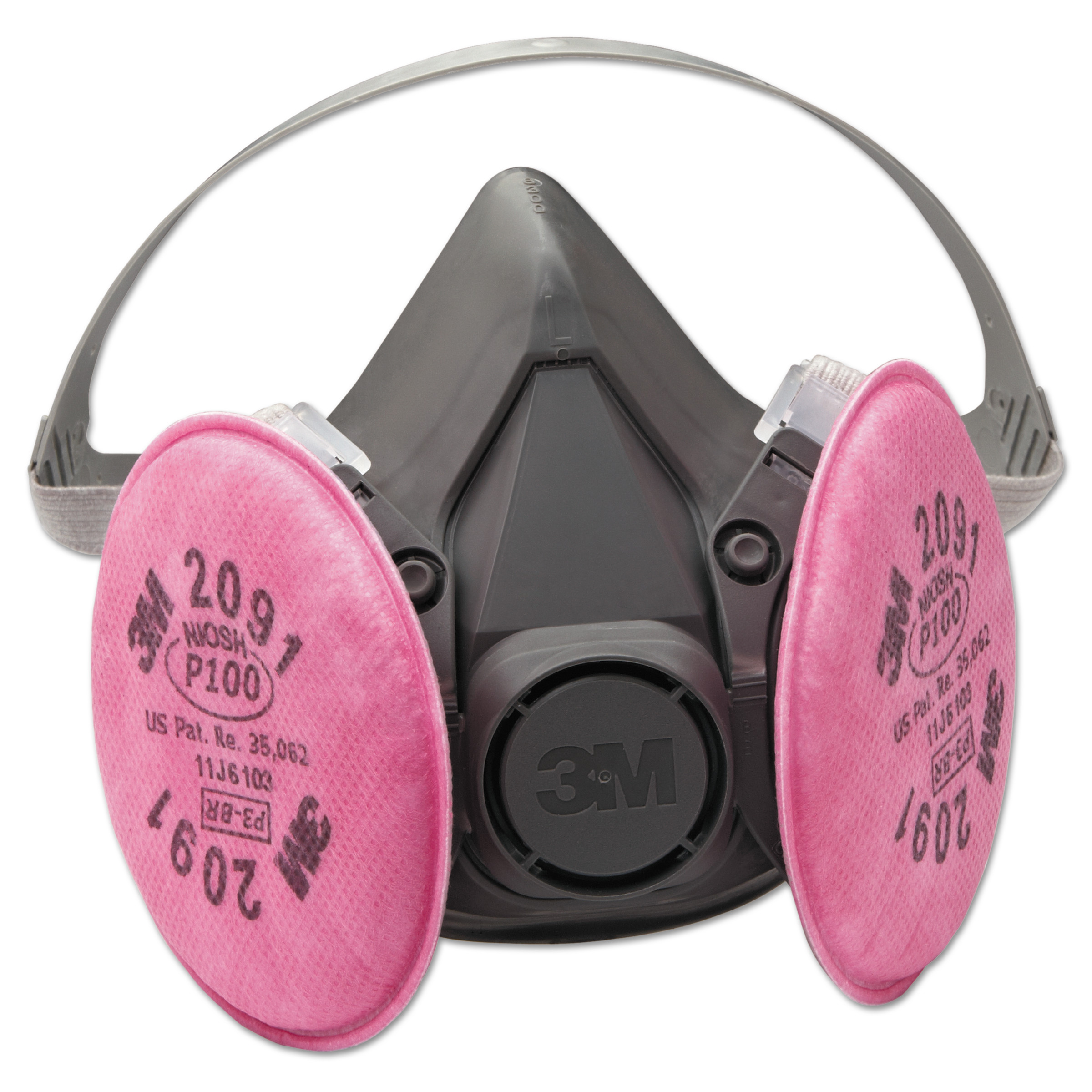 3M Half Facepiece Respirator 6000 Series, Reusable by 3M/COMMERCIAL TAPE DIV.