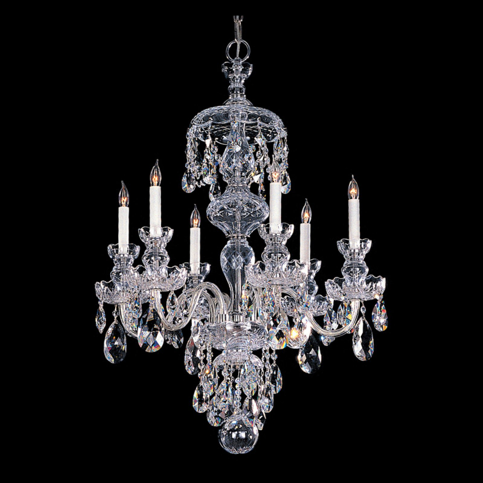 Crystorama 1146-CH-CL-MWP Traditional Crystal Chandelier 25W in. by Crystorama