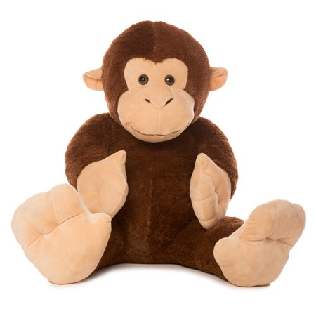 best made toys jumbo monkey giant plush animal over 4 feet tall. Black Bedroom Furniture Sets. Home Design Ideas