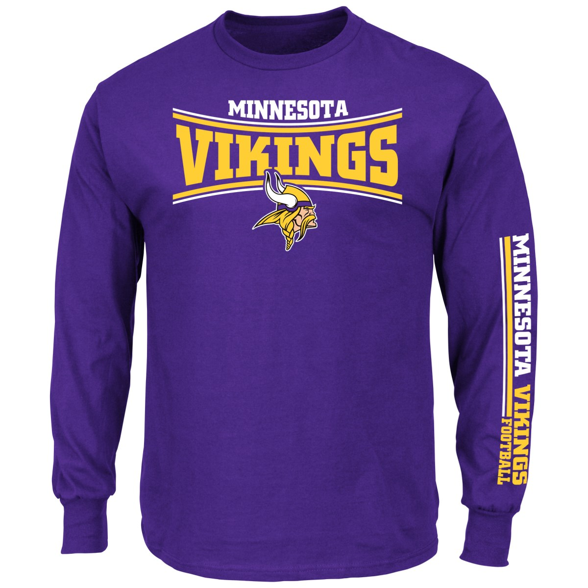 Minnesota Vikings Majestic NFL Primary Receiver Long Sleeve Men's T-Shirt by Majestic