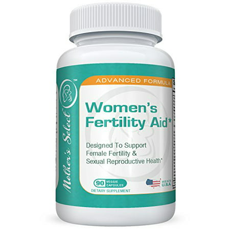 Womens Fertility Aid By Mothers Select  Womens Fertility Supplement For Conception And Sexual Health  All Natural Ingredients In Veggie Capsules  90 Count  30 Day Supply