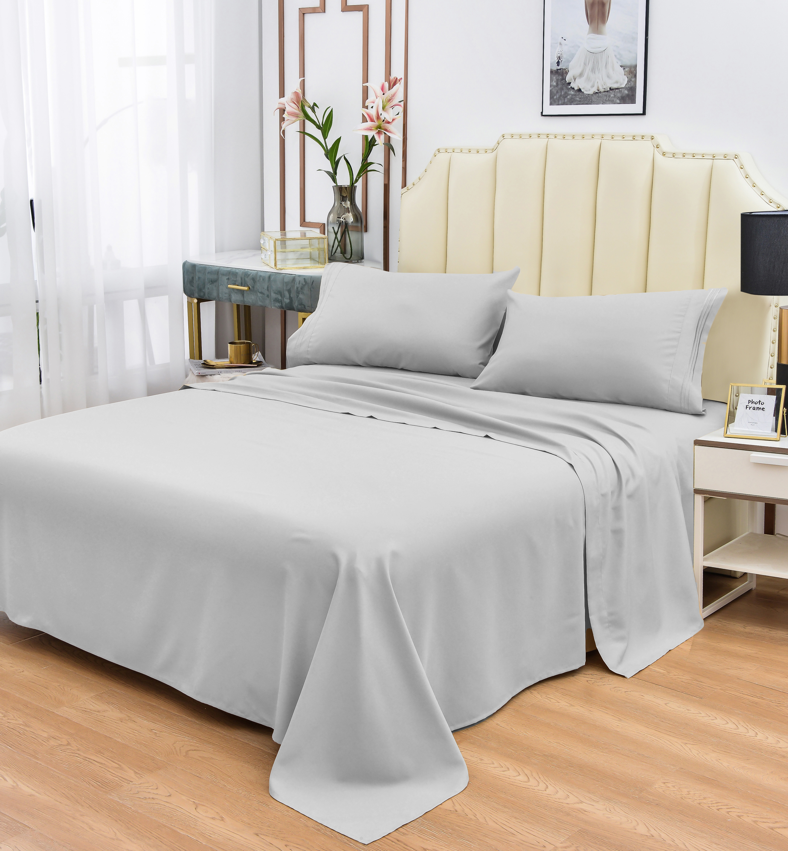 Luxury Bamboo Sheet Soft Hypoallergenic Ivory Queen Deep Pocket 4 Pc Set