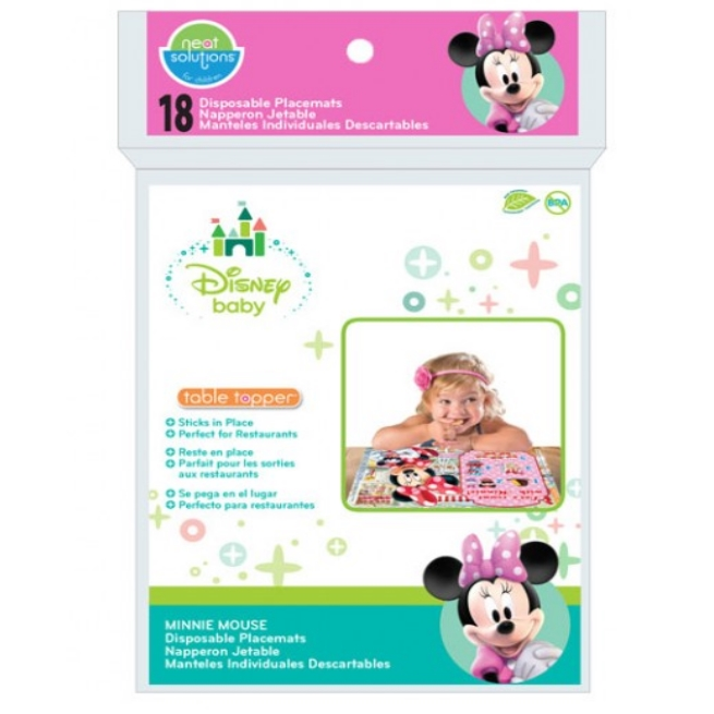 Neat Solutions Minnie Mouse Clubhouse Eco Table Topper 18 Count