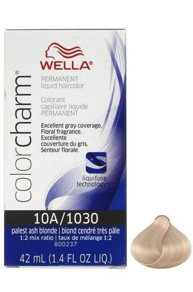 Wella Color Charm Permanent Liquid Hair Color - 10A/1030 Palest ...