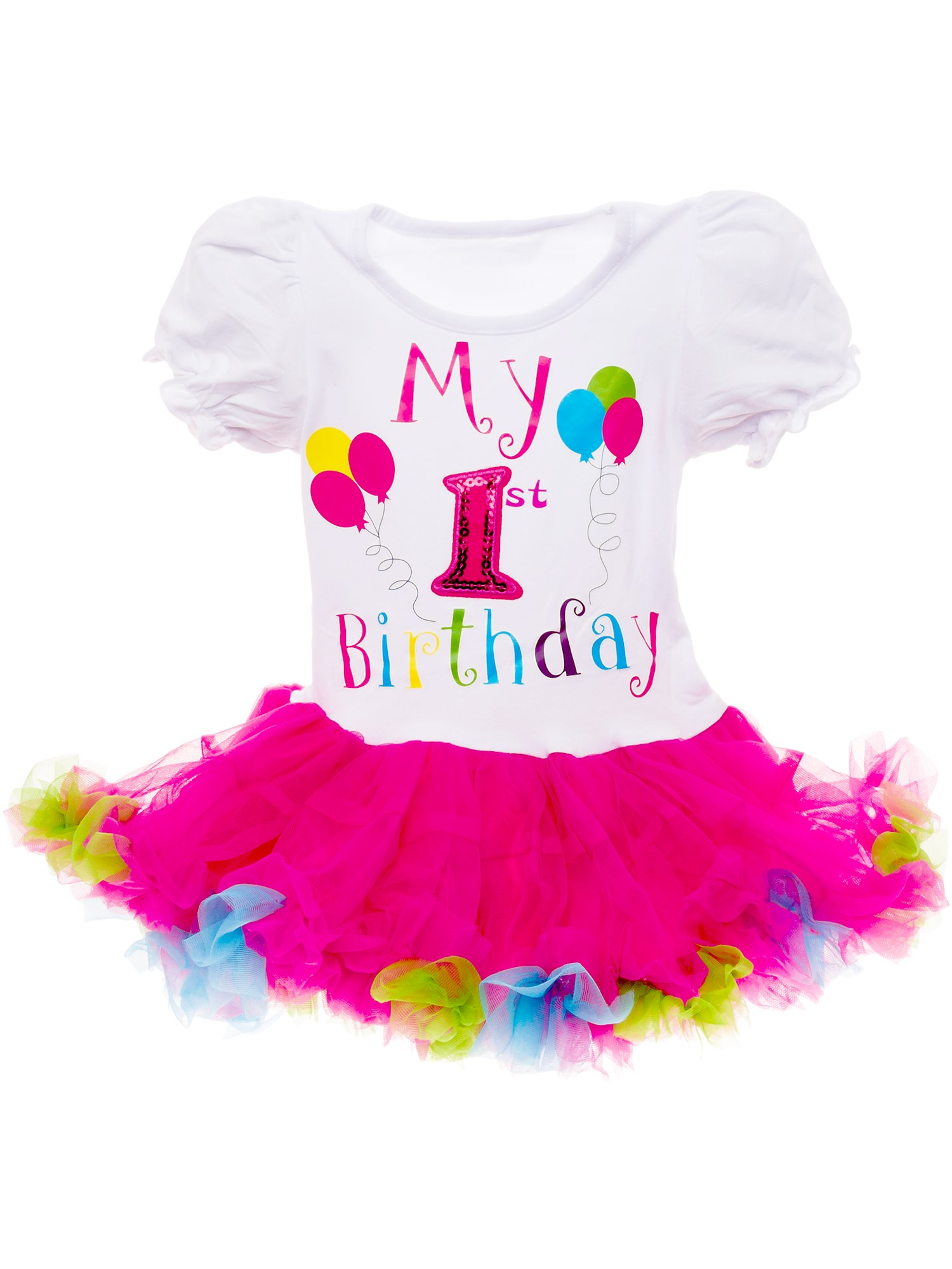 Silver Lilly Baby Girls 'It's My Birthday' Printed Tutu Dress Outfit