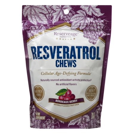 Reserveage Nutrition Resveratrol Chews - Bordeaux Berry 30