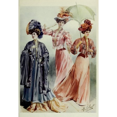 Latest Paris Fashions 1877 Costumes de Printemps Poster Print by  H Libert