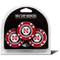 Team Golf NCAA Nebraska 3 Pack Golf Chip Ball Markers
