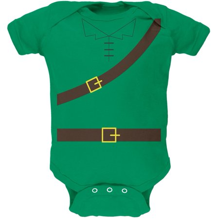 Halloween Robin Hood Costume Kelly Green Soft Baby One Piece (Baby Twin Halloween Costumes)