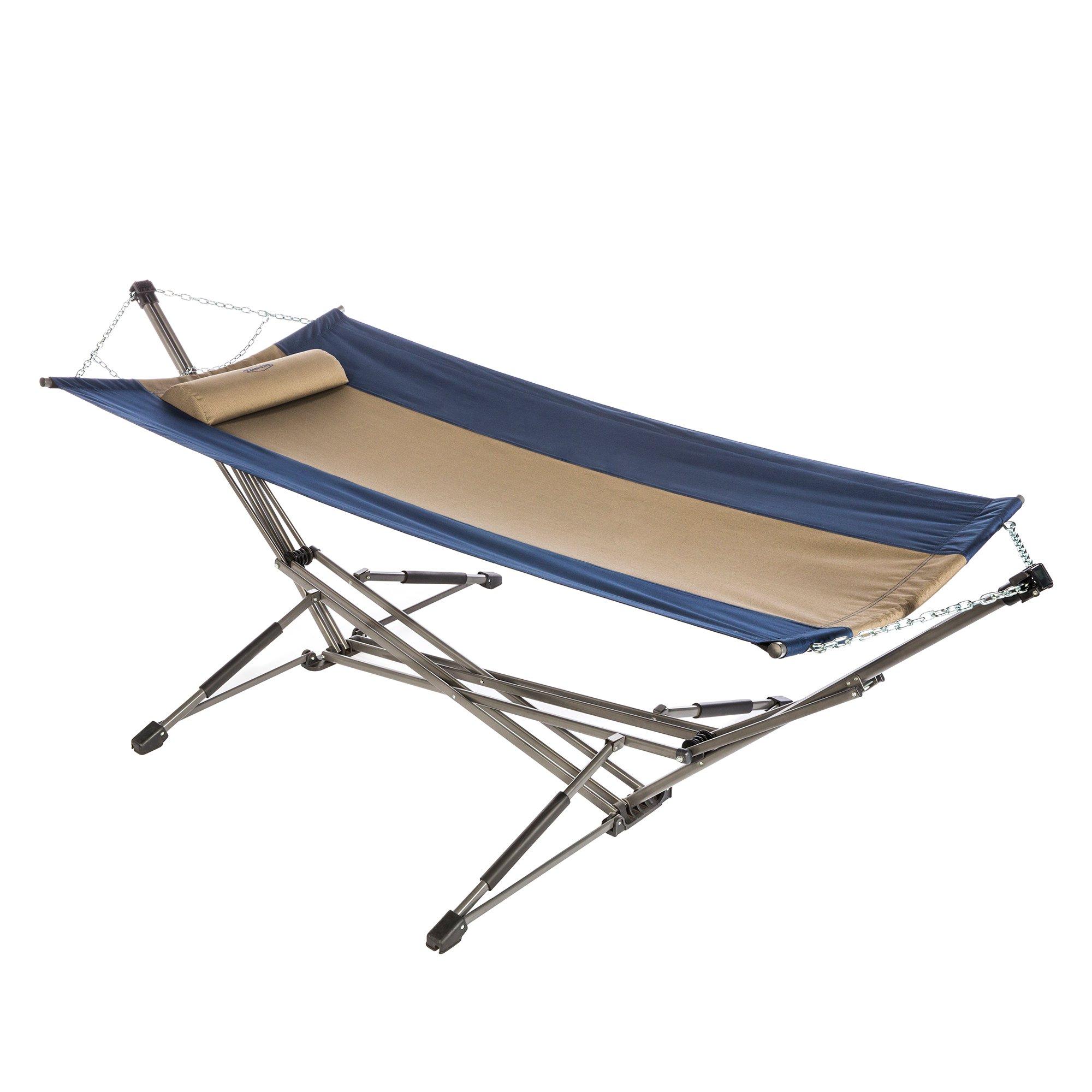 Kamp Rite Indoor Outdoor Camping Kwik Set Portable Collapsible Hammock w/ Stand
