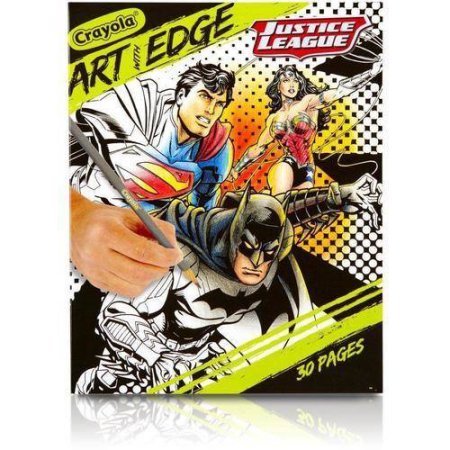 Crayola Art with Edge Justice League, Superhero Coloring Book Pages by Generic