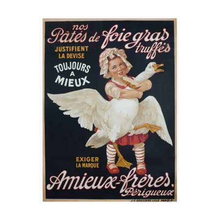 Ameiux Freres, Pates De Foie Gras, French Advertising Poster Print Wall Art