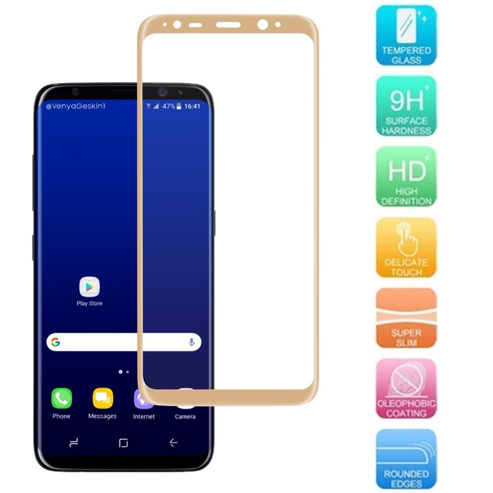 Galaxy S8 Plus Screen Protector, SOGA [Tempered Glass Series] HD Screen Protector for Samsung Galaxy S8 Plus (Full Coverage Protection) - Clear