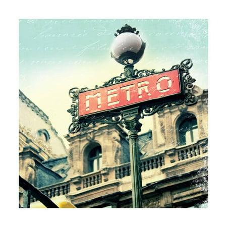 Paris Metro Letter Print Wall Art By Sue Schlabach