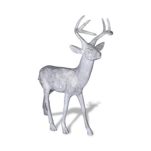 Amedeo Design ResinStone Standing Stag Deer Statue
