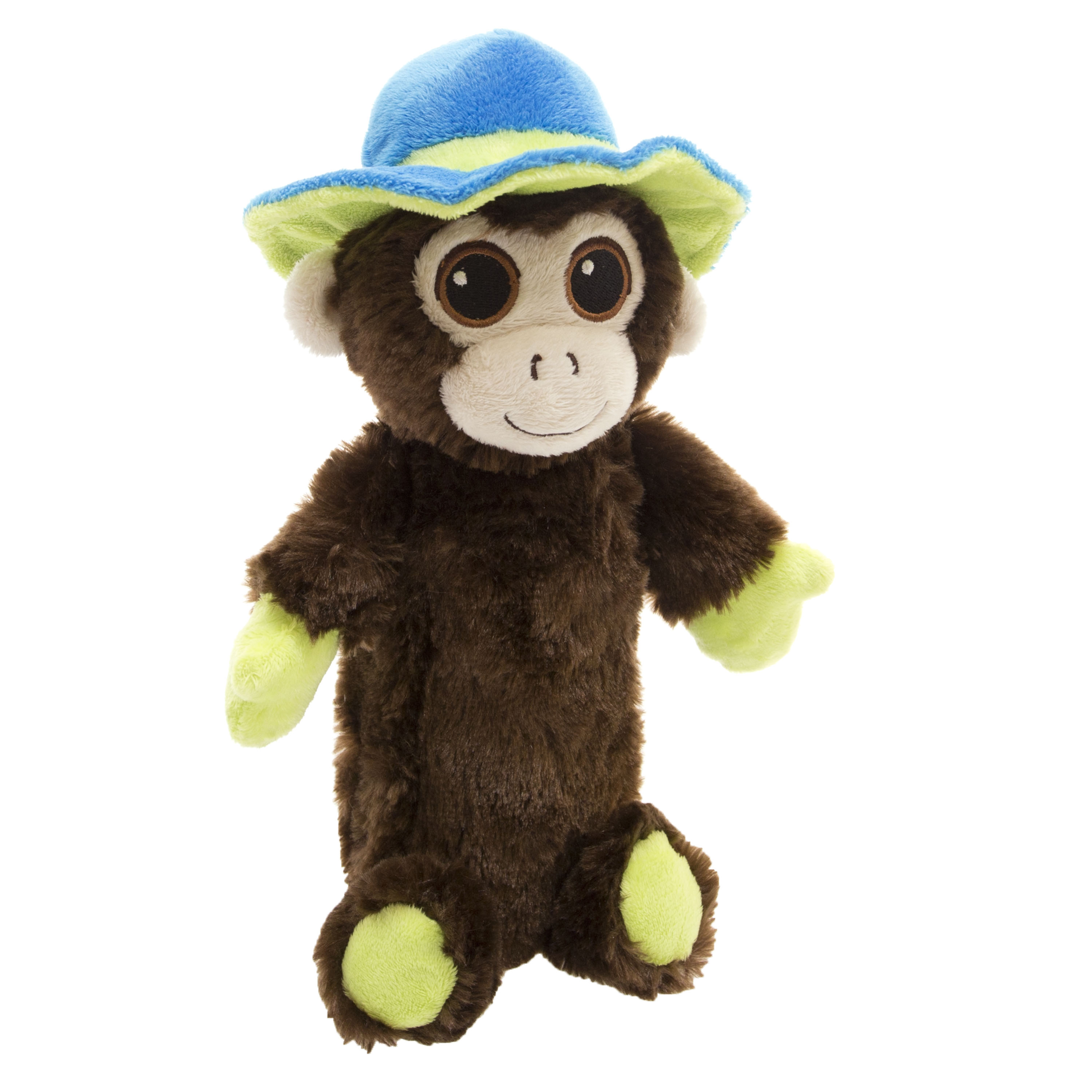 "10"" Adorable Crunchy Plush Pet Toy with Replaceable Bottle, Monkey"