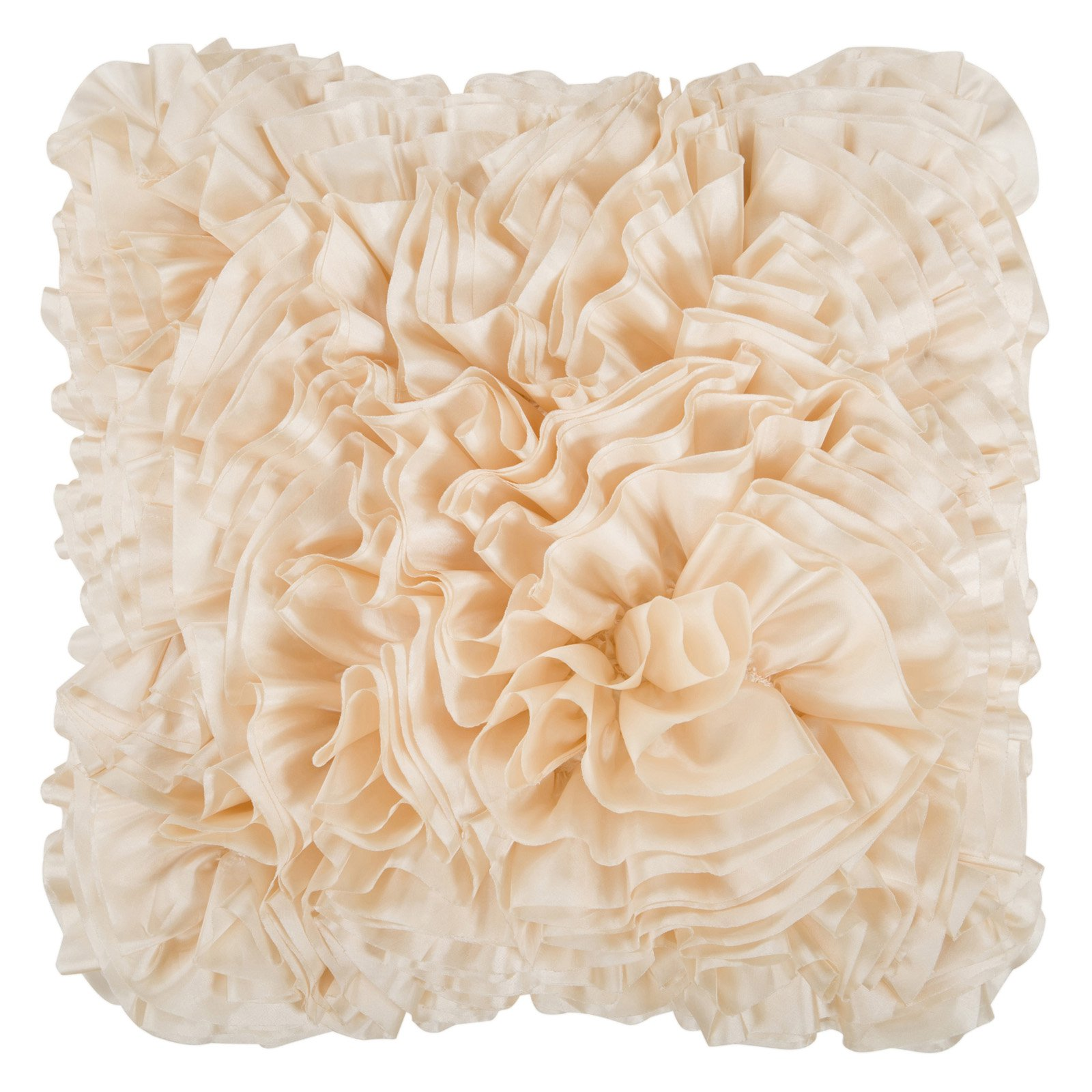 Surya Ruffles Decorative Pillow - Ivory